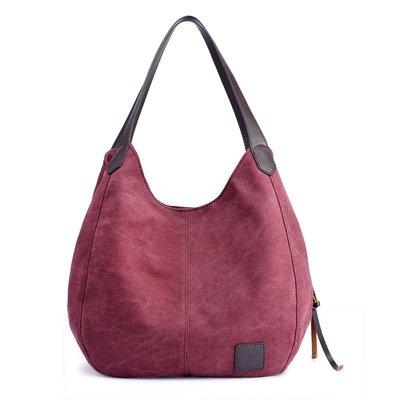 手提包帆布肩背包-簡約輕便休閒大容量女包包8色73wa4[獨家進口][米蘭精品]