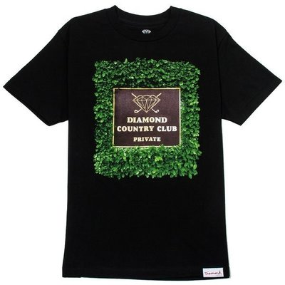 [WESTYLE] Diamond Supply Co private country club Tee 黑 鑽石