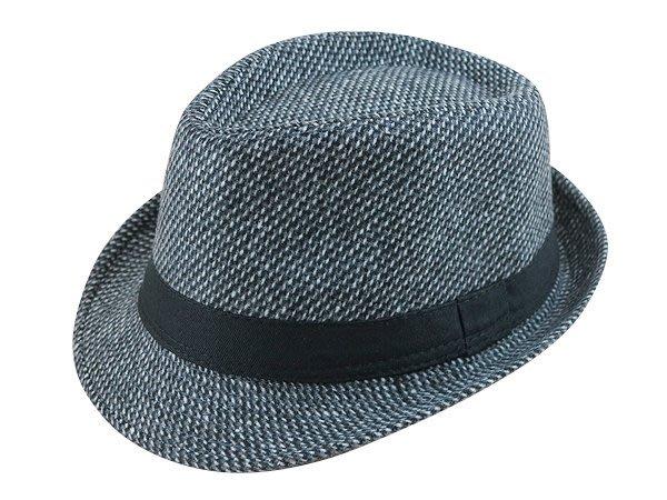 ☆二鹿帽飾☆ 秋冬限定/ 男帽女帽 -流行質感(雙斜條紋)黑色平口緞帶/ 羊毛爵士帽-紳士帽-3色