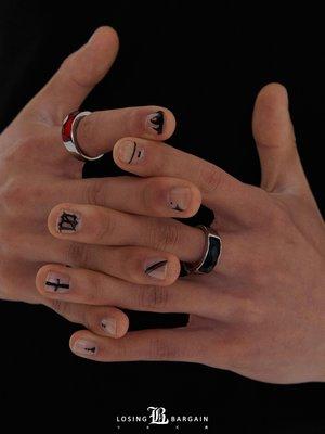 水晶【Losing Bargain】  SS  小眾設計款百搭菱形切面寶石戒指寶石