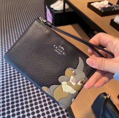 (Outlet特惠)COACH 91778 新款女士Disney全牛皮手拿包 零錢包 附代購憑證