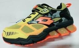 北台灣大聯盟 義大利第一品牌-LOTTO 男童5大機能G MAX-GUMMY彈力跑鞋 5104 黃 超低直購價498元