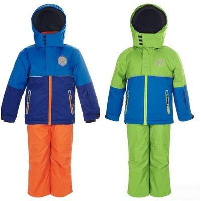 【荳荳物語】瑞士EXTEND兒童舖棉吊帶滑雪褲+外套,藍色、綠色(80-116公分)3980元含郵資!!