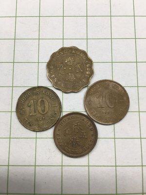 香港 1965 5 cents 1982 1991 10 cents 1989 20 cents