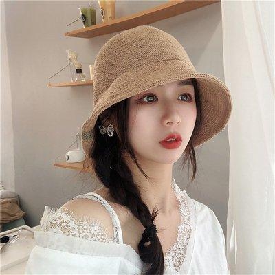 漁夫帽 盆帽-針織可摺疊春夏純色女帽子7色73xu14[獨家進口][米蘭精品]