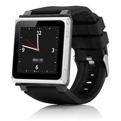小胖 iPod nano6 多彩直插式運動款矽膠轉換錶帶 iWatchz Tactic 蘋果 MP3 PC錶框 替換腕帶