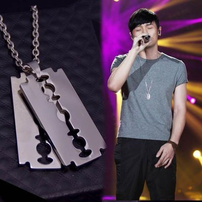 我是歌手3李榮浩同款鏈 韓版時尚長款吊墜掛墜個性潮流項墜潮飾品『W.A 型男基地』