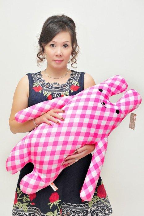 彩色長抱兔大娃娃~綿綿兔~fumo兔~75公分~男友抱枕女生最愛