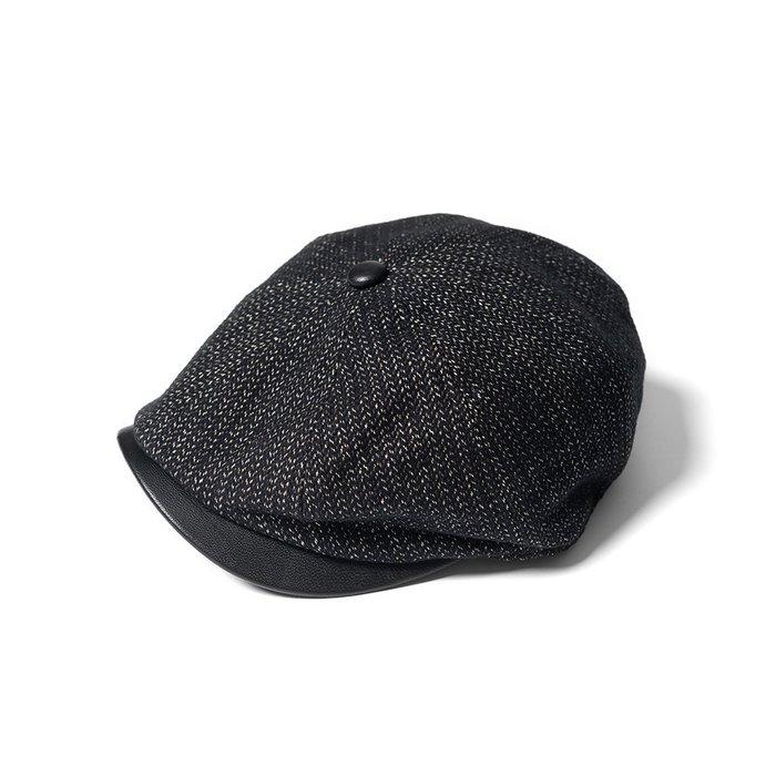 { POISON } RETRODANDY HUNTING CAP 人字紋HERRINGBONE 山羊皮毛料狩獵帽