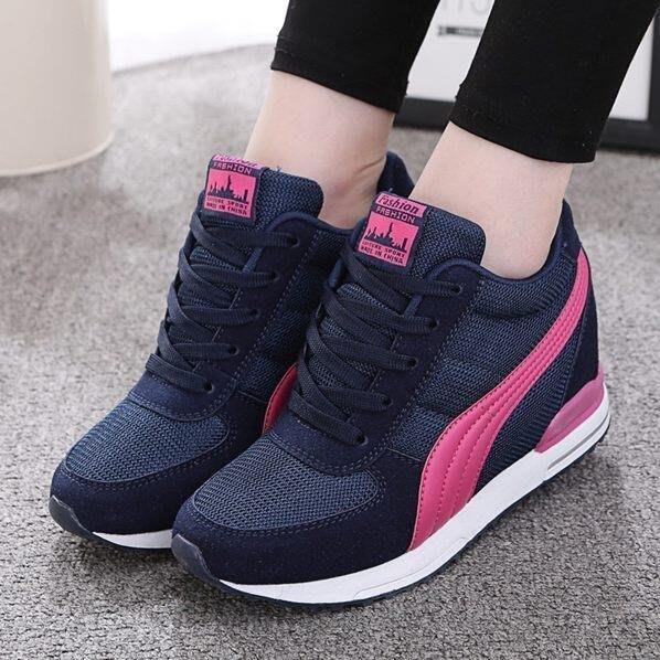 內增高8CM夏季網鞋透氣運動款—莎芭