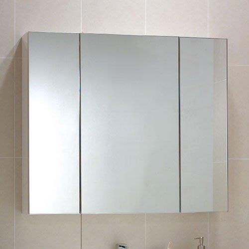 《101衛浴精品》台灣製 95CM 100%全防水 鋁封邊鏡面 三門鏡箱櫃 非規格品尺寸可另外訂製【免運費 可貨到付款】