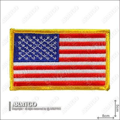 【ARMYGO】美國國旗(彩色黃邊朝左版)