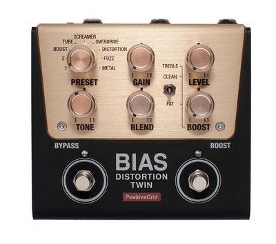 【成功樂器 . 音響】Positive Grid Bias Distortion Twin 數位 效果器 破音 單顆