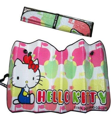 【卡漫迷】 Hello Kitty 汽車擋風玻璃 遮陽隔熱板 ㊣版 雙層加厚款 車子前窗遮陽板   2 9 9元