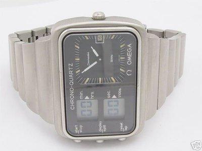 OMEGA~1976蒙特利爾奧林匹克運動會官方紀念錶【全球第一支指針和液晶電子同錶面】