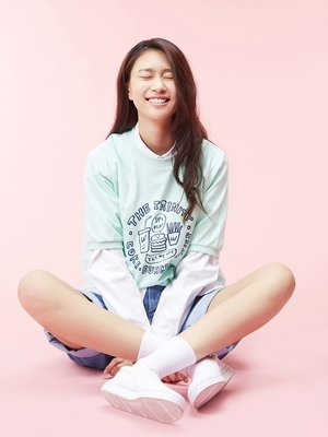 ☆AirRoom☆【現貨】WHITE BLANK Trinity Short Sleeve Sweat 衛衣 蒂芬綠 短