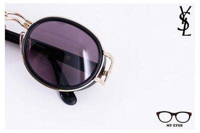 【My Eyes 瞳言瞳語】Yves Saint Laurent YSL聖羅蘭圓框包覆款太陽眼鏡 桂綸鎂款式