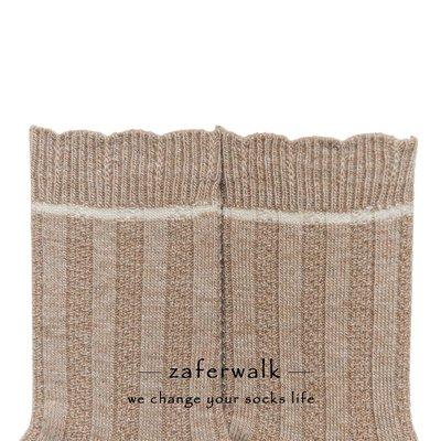 襪子 短襪 船型襪素人工作室簡約純色女襪中筒豎條織花羊毛保暖少女花邊日系風甜美