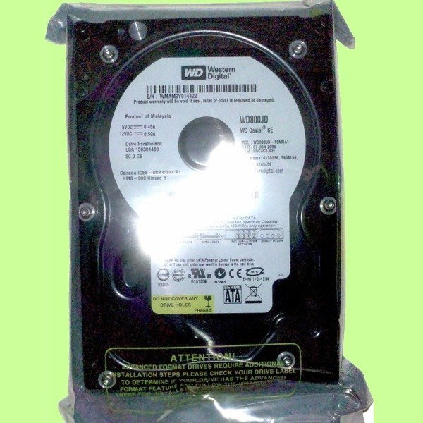 5Cgo【權宇】稀有全新最穩的硬碟WD黑盤WD800JD 3.5吋7.2K轉80G 80GB SATA 8M 含稅