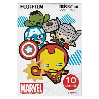 富士即影即有相紙 菲林 FUJIFILM INSTAX MINI FILM INSTANT PHOTO POLAROID復仇者聯盟MARVEL AVENGERS