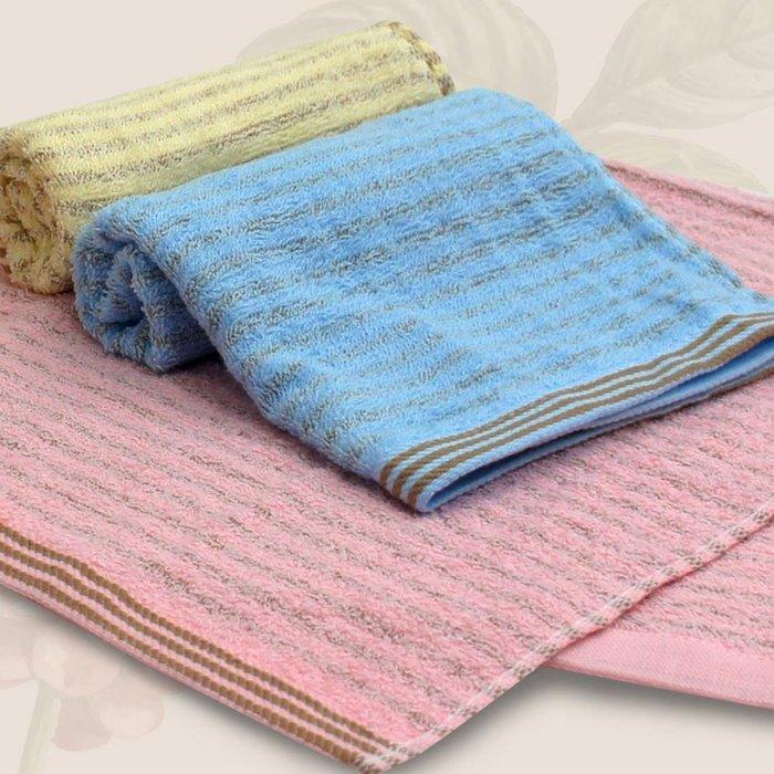 【TELITA】精選咖啡紗條紋易擰乾毛巾(超值9條組)免運