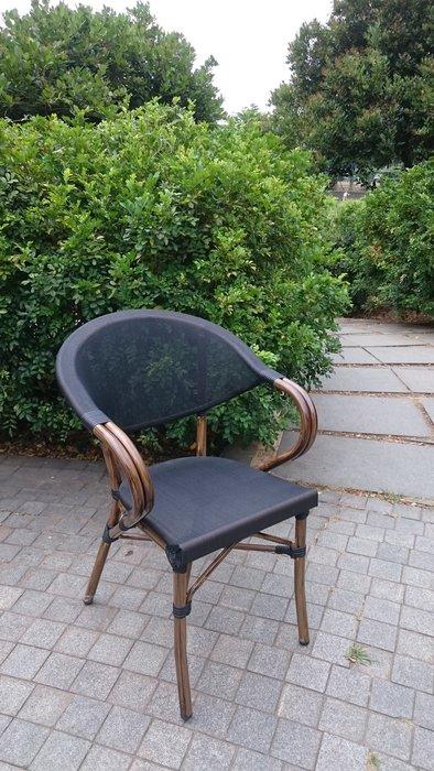 [兄弟牌戶外休閒傢俱]星巴克鋁合金休閒椅~紗網椅背座位透氣舒適,28mm鋁合金管承重高,戶外不生鏽水洗好清潔包覆性佳~