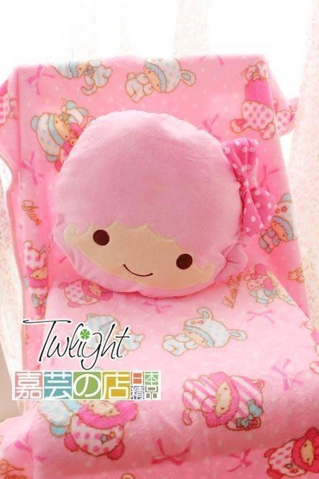 嘉芸的店 sanrio Little Twin Stars 日本雙子星兩用毛毯 日本抱枕 靠枕 珊瑚絨毛毯 日本抱枕