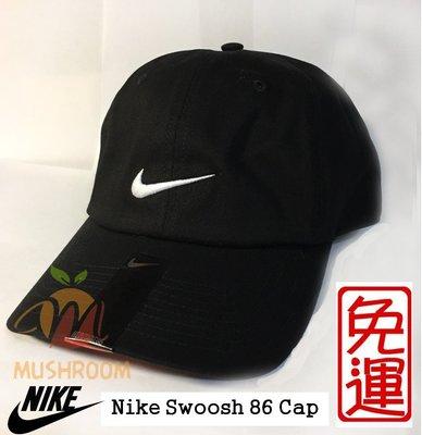 全新 現貨 NIKE SWOOSH 86 純棉 薄款 棒球帽 帽子 老帽 可調式 運動帽 遮陽 黑色 X2