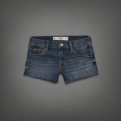 A&F 女 麋鹿 潑漆造型 淺色牛仔短褲 尺寸25 / 26 / 27 全新 現貨