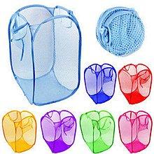 顏色隨機 彩色折疊洗衣籃 置物籃 收納籃 收納籃 分類籃 髒衣籃 玩具籃~神來也