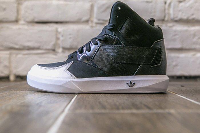【第二件半價】現貨 Adidas Originals C-10 高桶鞋 C75441 小童鞋  黑白配色 SZ11K~3