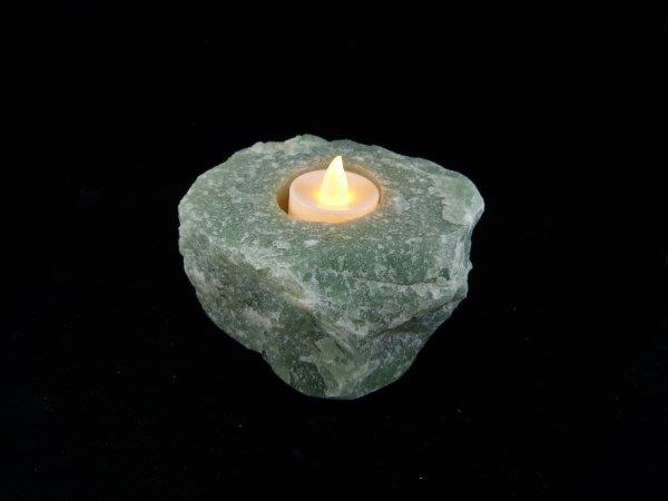☆寶峻晶石館☆新貨到~天然原礦燭台 綠東陵 《附贈LED蠟燭》居家氣氛裝飾
