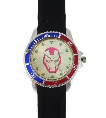 【卡漫迷】 鋼鐵人 金錶面 手錶 ㊣版 Iron Man  矽膠 兒童錶 卡通錶 男錶 女錶  ~  4 8 0  元