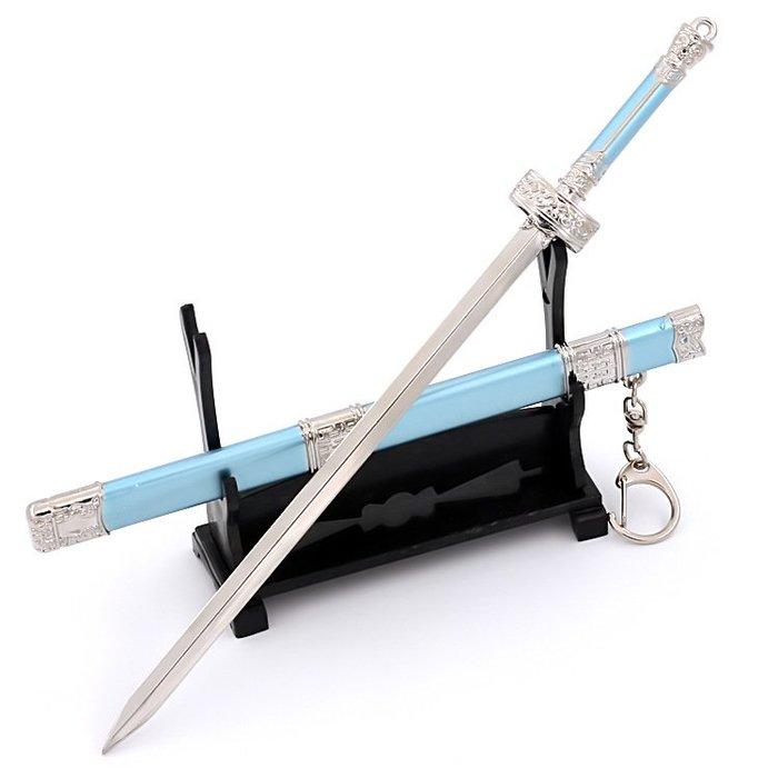 魔道祖師陳情令影視版藍思追佩劍 22cm(長劍配大劍架.此款贈送市價100元的大刀劍架)