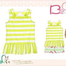 【B& G童裝】正品美國進口GYMBOREE裙襬型青綠色條紋背心上衣7,8,10號6-7-8-9yrs