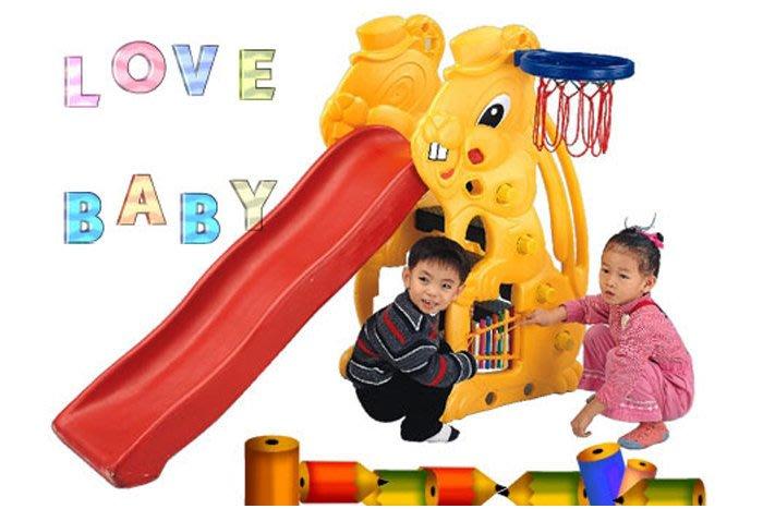 佳佳玩具 ----- 親親 ching ching 兔子 溜滑梯 附球框 台灣製【0514910】