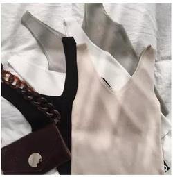 冰絲針織吊帶無袖chic小背心女內搭春夏短款韓版顯瘦打底衫
