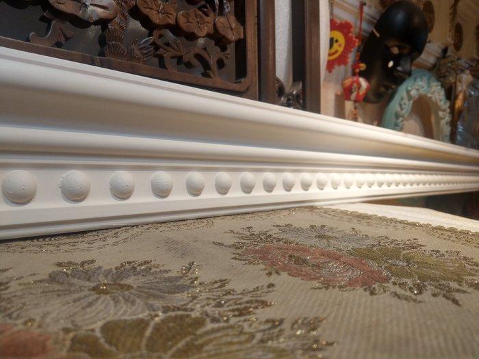 居家藝術,歐式 PU浮雕平線板,裝飾框巴洛克天花板框邊修飾一支 240公分白色底漆,PI-201842未含運送費$690