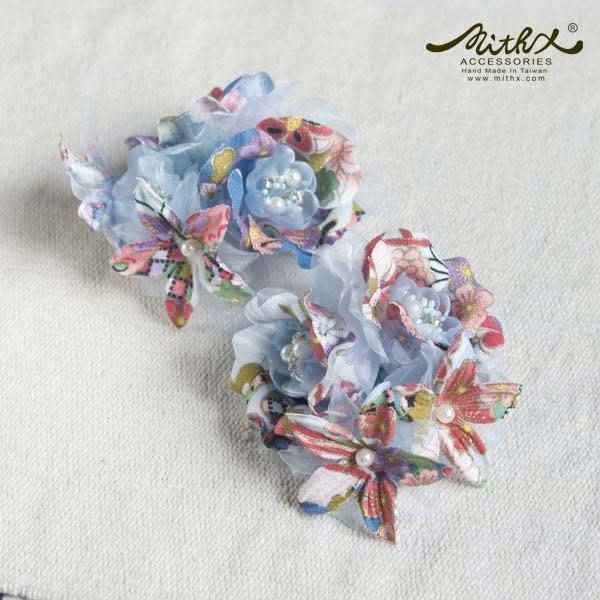 【MITHX】櫻福,花宴,小側夾胸針,造型髮飾-藍