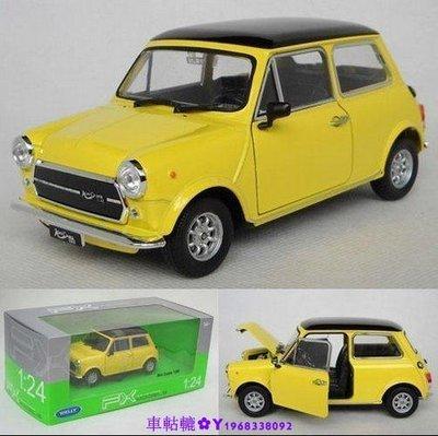 車軲轆✿現貨!汽車金屬模型寶馬 BWM 迷你 mini cooper 1300 1:24 老款cooper 合金汽車模型