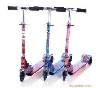 三季兒童全鋁三輪滑板車滑滑車踏板車兒童兩輪三輪閃光車劃板車❖469