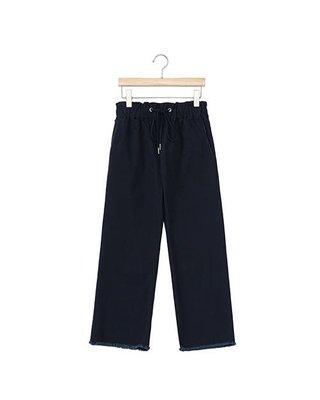 轉賣 fifty percent 50%  超熱賣款 彈性純棉綁帶褲腳抽鬚微寬褲 XL