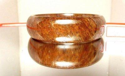 小風鈴~精選天然頂級的滿絲寬板紅銅鈦晶手鐲~淨重56.6克!板寬19公分.手圍19公分