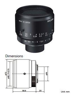 Ricoh FL-YFL3528 45mm Image Circle 35 mm f2.8,F-mount