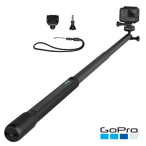 GoPro 原廠 38吋延長桿+固定座 快拆 連接座配件 自拍桿 自拍棒  AGXTS-001 台南PQS