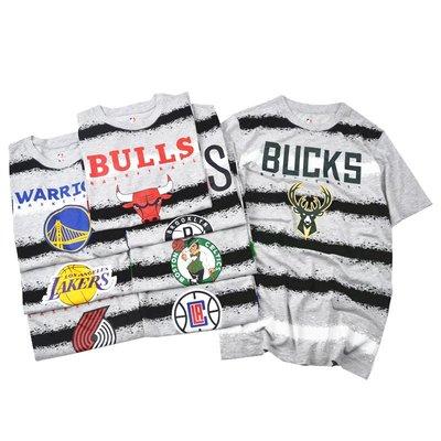 美國NBA籃球運動短袖上衣 T血 快艇 勇士 拓荒者 公牛湖人 籃網 公鹿 塞爾提克 火箭 76人 正版