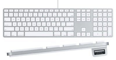 中文版注音版 蘋果APPLE A1243/ MB110LLA USB有線鍵盤 數字小鍵盤 薄 好按 8成新 運損品 台北市