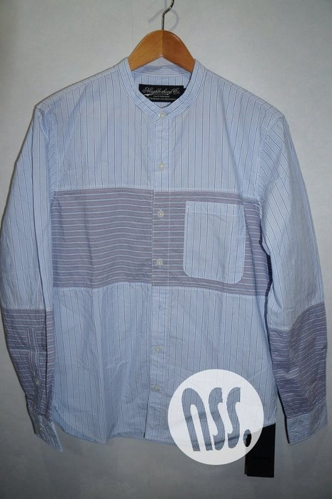 特價「NSS』NEIGHBORHOOD 16 STRIPE C-SHIRT LS 長袖 條紋 襯衫 M L