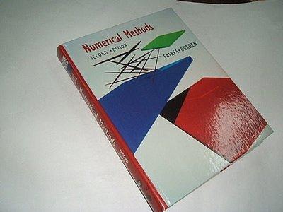 古集二手書RS ~Numerical Methods Douglas Faires,Richard L. Burden 0534351875