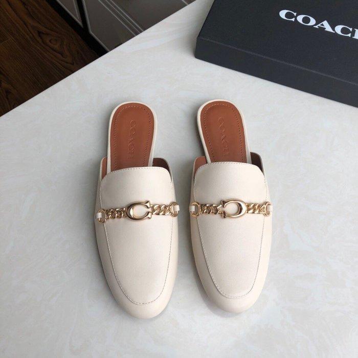 【小黛西歐美代購】COACH 寇馳 2020新款 懶人鞋 五金屬LOGO 百搭休閒鞋  時尚精品 美國連線代購